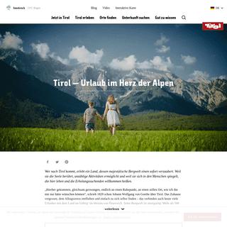 Online Reiseführer Tirol - Urlaub in Österreich