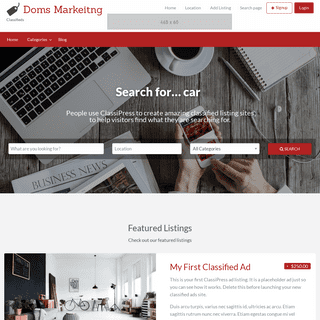 Doms Markeitng – Classifieds
