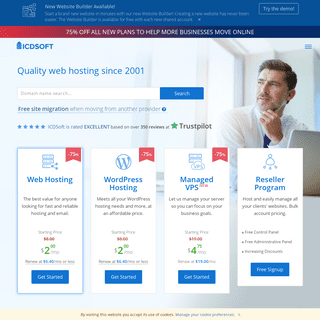 Quality web hosting since 2001 - ICDSoft
