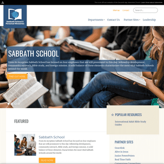 Sabbath School and Personal Ministries - Home