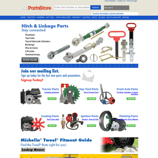 AllPartsStore- Tractor Parts, Combine Parts, Turf & Lawn Care, and Industrial Products