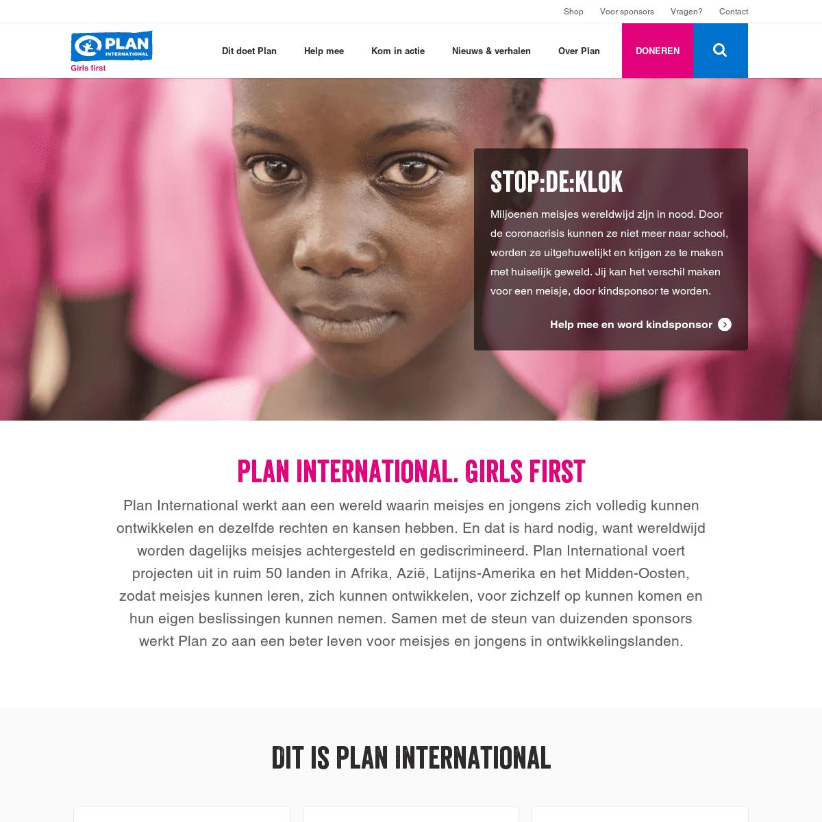 Plan International investeert in meisjes wereldwijd