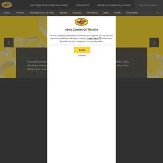 Synthetic Motor Oil, Oil Filters & Other Lubricants - Pennzoil