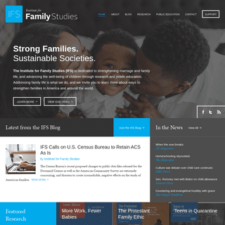 Strong Families. Sustainable Societies. - Institute for Family Studies