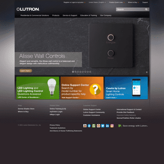 Smart Dimmers and Lighting Controls - Lutron