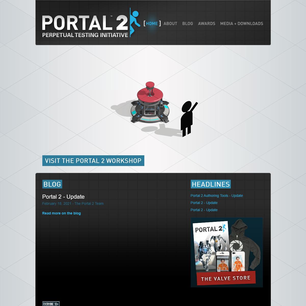 Official Portal 2 Website
