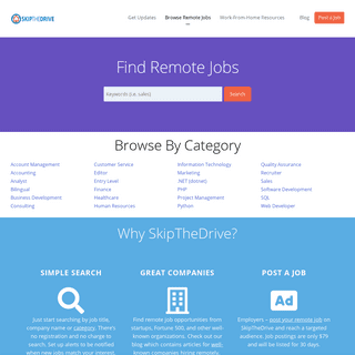 Find remote jobs on SkipTheDrive - Work From Home