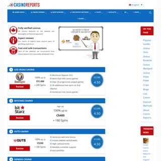 Homepage - Casino Reports - Canada Casino News