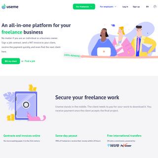 Hire Freelancer. Find Remote Jobs & Get Paid Online at Useme.eu - useme.com