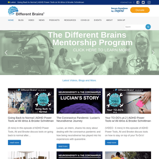 DIFFERENT BRAINS - The Neurodiversity Resource for Everyone