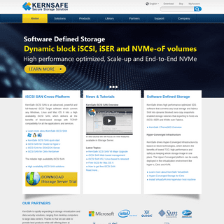 Software Defined Storage - iSCSI, iSER and NVMe-oF SAN Software, Distribute Storage and Storage Virtualization Solutions
