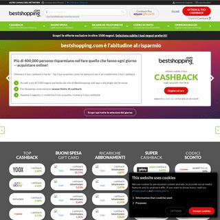 Bestshopping- Cashback, Codici Sconto e Buoni Spesa con rimborso