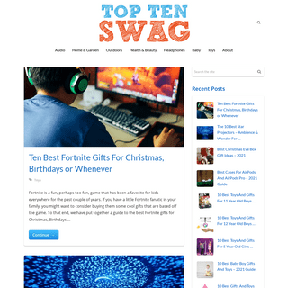 Top Ten Swag - Top Rated Consumer Products Reviews