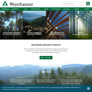 Weyerhaeuser- Timber, Land, and Forest Products