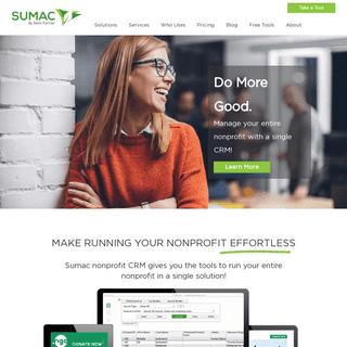 Non-profit CRM Software - Non-profit Database Software - Sumac
