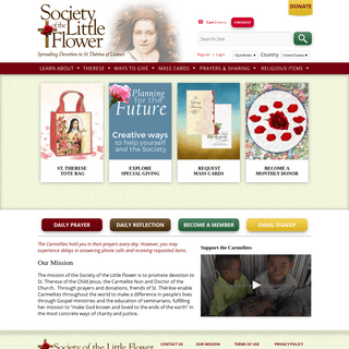 Spreading Devotion to St. Therese of Lisieux - Society of the Little Flower - US