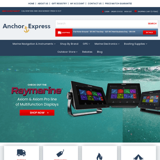 Anchor Express - Marine Electronics Online from Top Brands