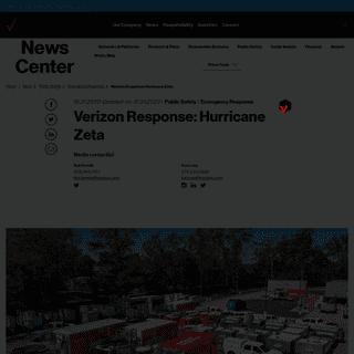 Verizon Response- Hurricane Zeta - About Verizon