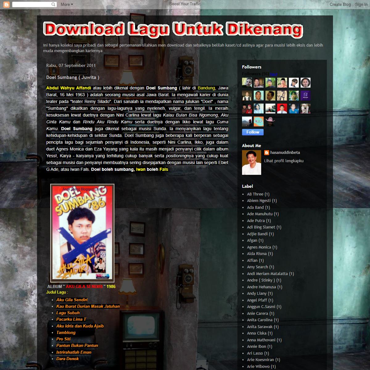 Download Lagu Untuk Dikenang (by Anak Taeng)- Doel Sumbang ( Juwita )