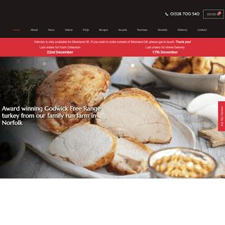 Godwick Turkeys - Free-range Norfolk Turkeys for Christmas 01328 700 540