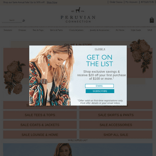 Women`s Luxury Alpaca & Peruvian Pima Clothing - Peruvian Connection