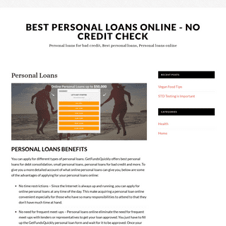 Personal Loans - Best Personal Loans Online - No Credit Check
