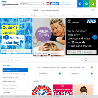 Who we are and what we do - Croydon Health Services NHS Trust