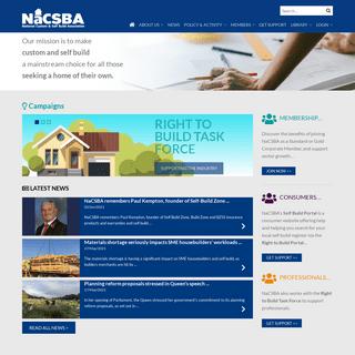 Home page - NaCSBA - National Custom & Self Build Association