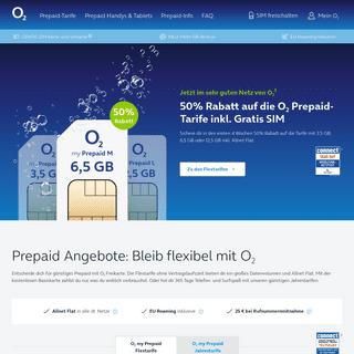 Jetzt günstige Prepaid Angebote bei o2 sichern