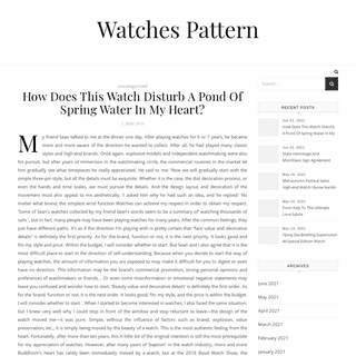 Watches Pattern