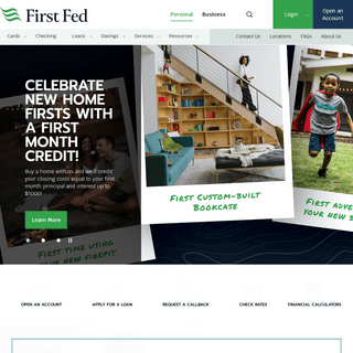 Local WA bank with online banking - First Fed