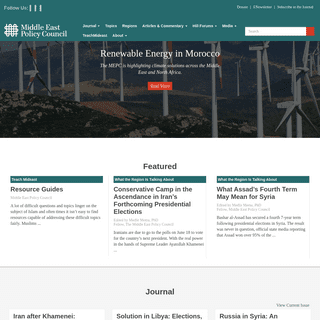Homepage - Middle East Policy Council