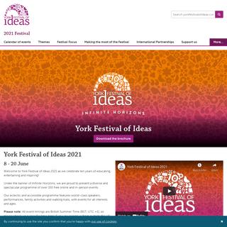 2021 Festival, York Festival of Ideas