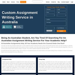 Australian Assignment Help - Best Assignment Writing Service