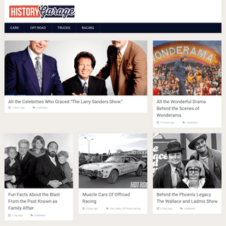 HistoryGarage - The history of things that get parked in a garage