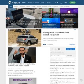 Neowin - Where unprofessional journalism looks better