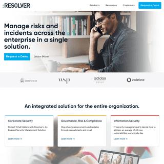 Resolver - Risk & Security Management Software