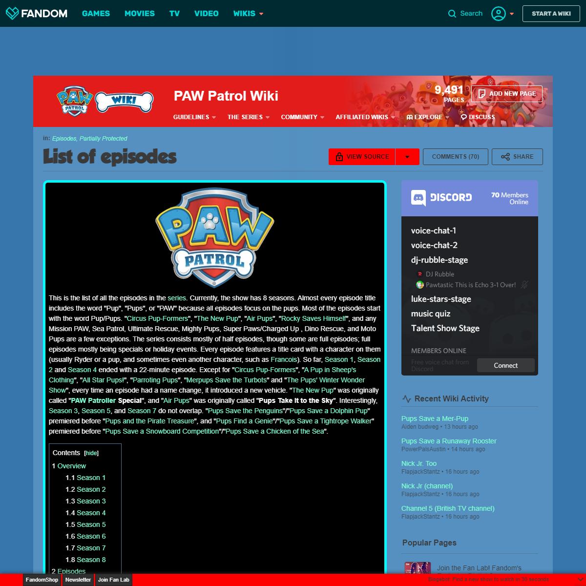 List of episodes - PAW Patrol Wiki - Fandom