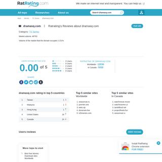 Reviews about dramasq.com - Similar Sites like dramasq