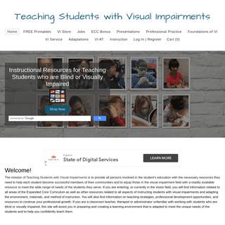 Teaching Students with Visual Impairments - Teaching Students with Visual Impairments