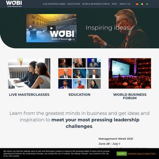 WOBI - World Of Business Ideas - Inspiring Business Ideas - WOBI