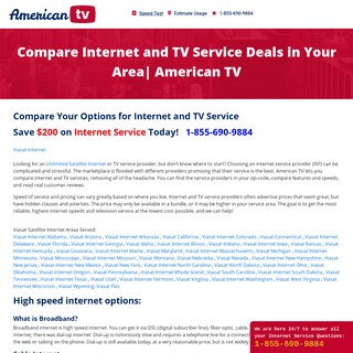 Compare Internet and TV Service Deals in Your Area- American TV