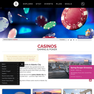 Casinos Atlantic City - Casino Resorts in Atlantic City - Atlantic City Casinos
