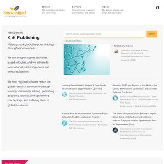 KnE Publishing Platform
