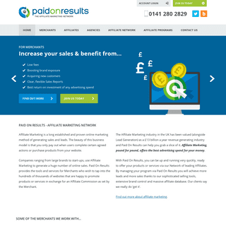 Affiliate Marketing - Paid On Results - UK Affiliate Network