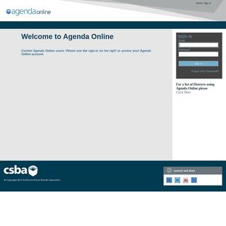 Agenda Online - Portal Login