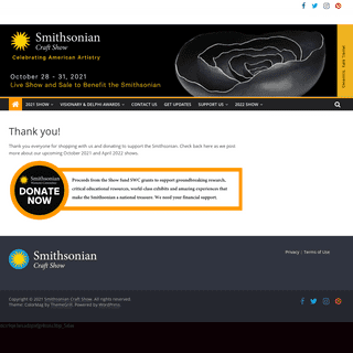 Thank you! - Smithsonian Craft Show