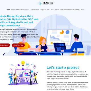 Professional landing page designs representative of and consistent with your brand