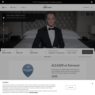 Fairmont Hotels and Resorts - Luxury 5 star hotels and suites