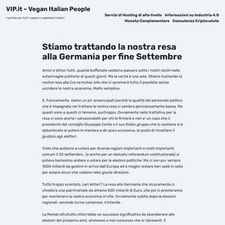 VIP.it – Vegan Italian People – Il portale per tutti i vegani e vegetariani italiani